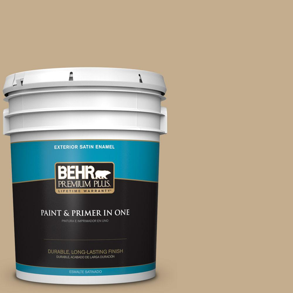 5 gal. #PPU7-21 Woven Straw Satin Enamel Exterior Paint
