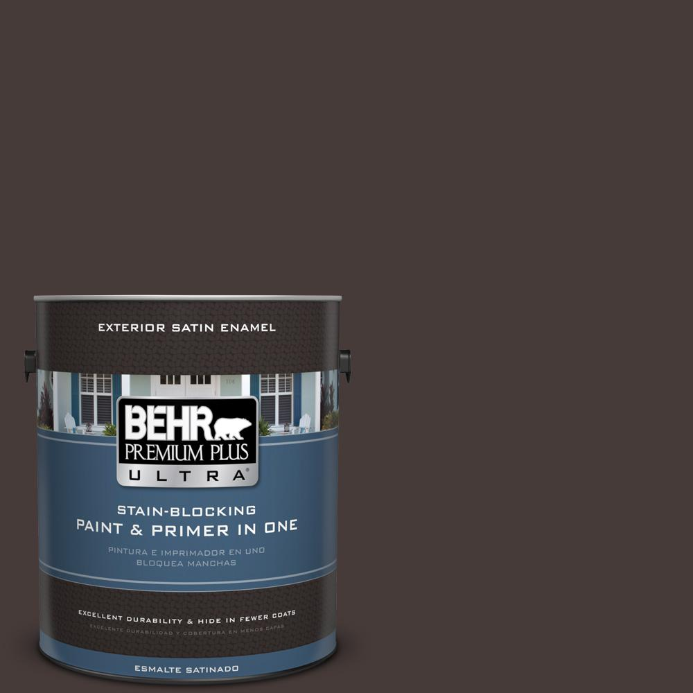1 gal. #T18-04 Nocturne Shade Satin Enamel Exterior Paint