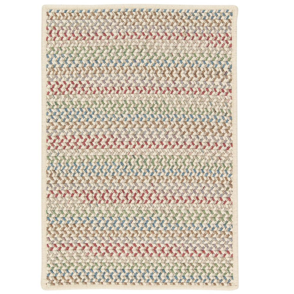 Parkside Spring Mix 4 ft. x 4 ft. Braided Square Area