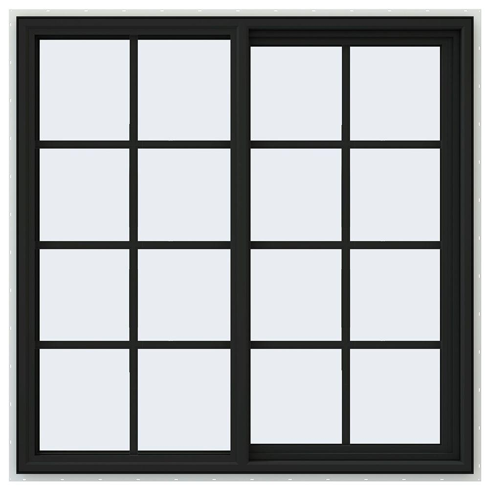 Tafco windows 36 in x in jalousie utility louver for Square window design