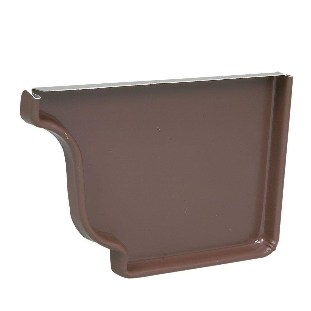 5 in. HD Brown Aluminum Right End Cap