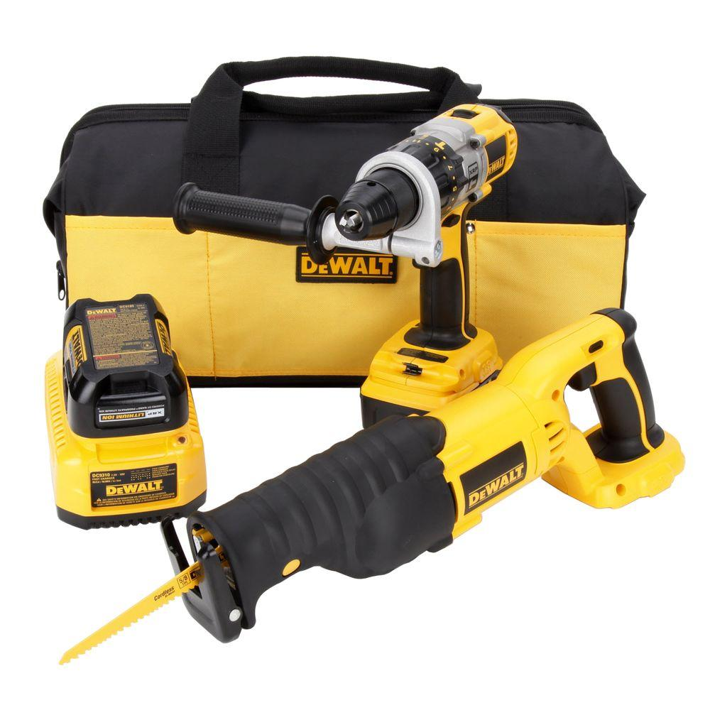 DEWALT 18-Volt XRP Lithium-Ion Cordless Hammer Drill / Reciprocating Combo Kit (2-Tool)