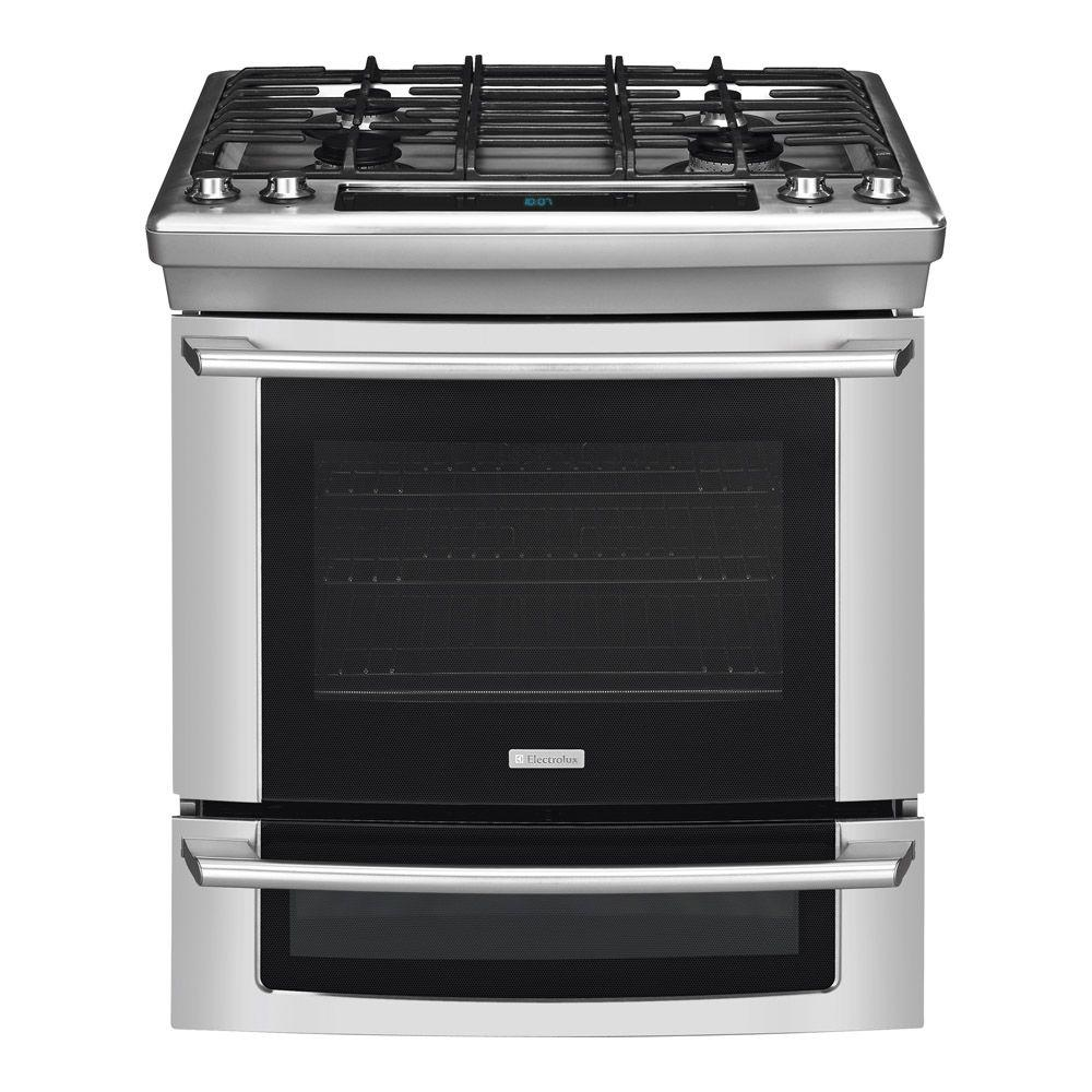 Electrolux Wave-Touch 4.2 cu. ft. Slide-In Dual Fuel Range with Self-Cleaning Convection Oven in Stainless Steel-DISCONTINUED