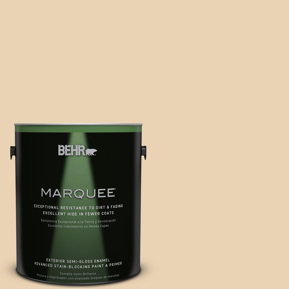 BEHR MARQUEE 1-gal. #S300-2 Powdered Gold Semi-Gloss Enamel Exterior