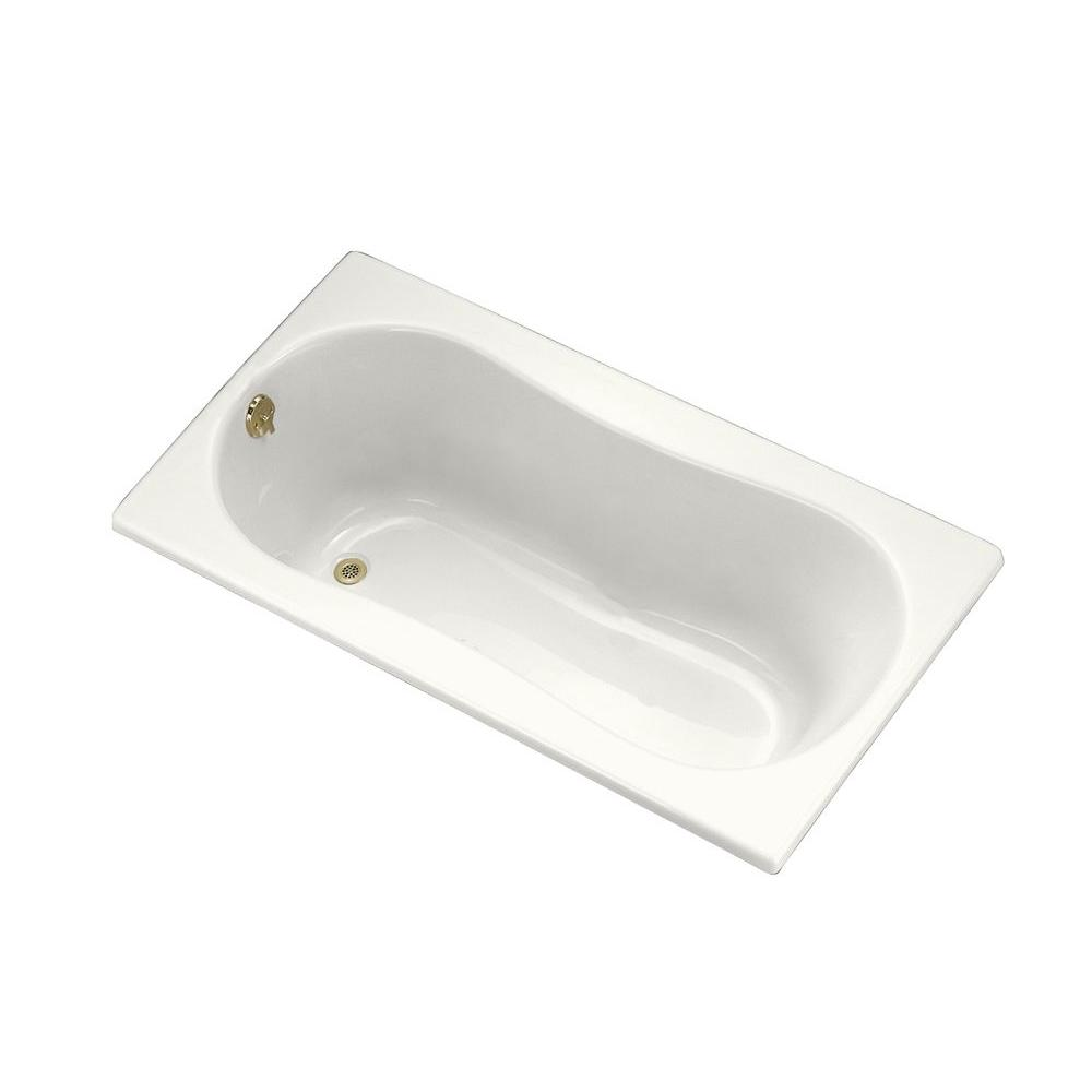 KOHLER ProFlex 5 ft. Left-Hand Drain Acrylic Soaking Tub in White-DISCONTINUED