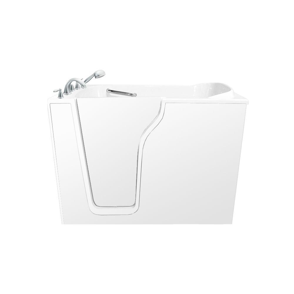 Ariel 4.58 ft. Walk-In Whirlpool and Air Bath Tub in White