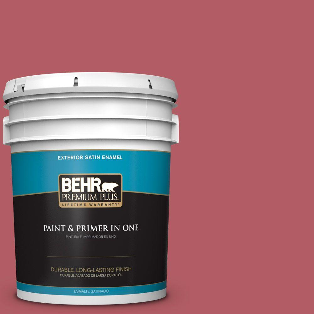 5-gal. #BIC-33 Cinnamon Candle Satin Enamel Exterior Paint
