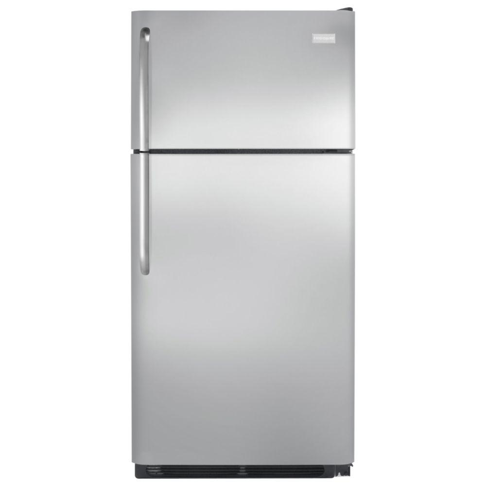 frigidaire 18 cu ft top freezer refrigerator in stainless steel ffht1821qs the home depot. Black Bedroom Furniture Sets. Home Design Ideas