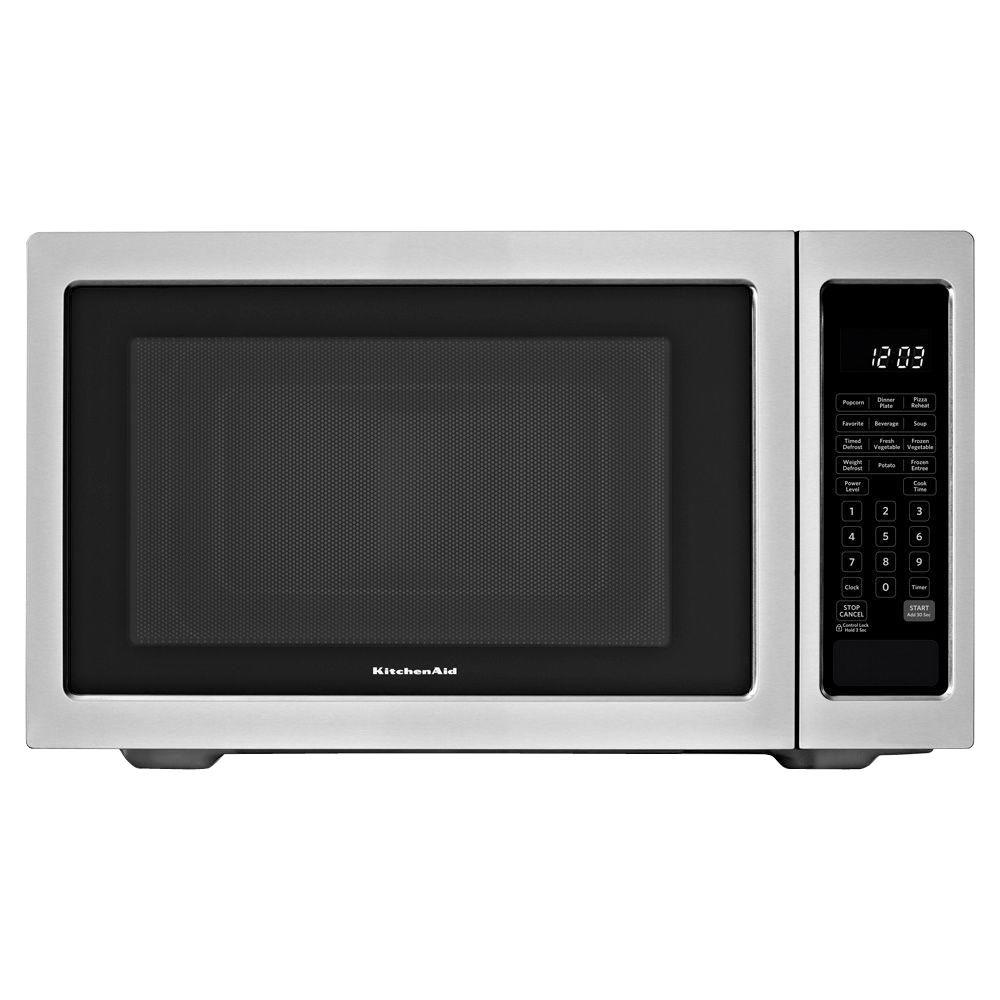 KitchenAid 2.2 cu. ft. Countertop Microwave in Stainless Steel, Built-In Capable with Sensor Cooking