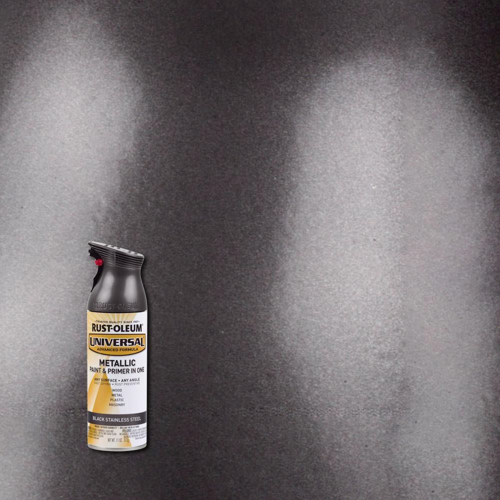 11 oz. All Surface Black Stainless Steel Spray Paint and Primer