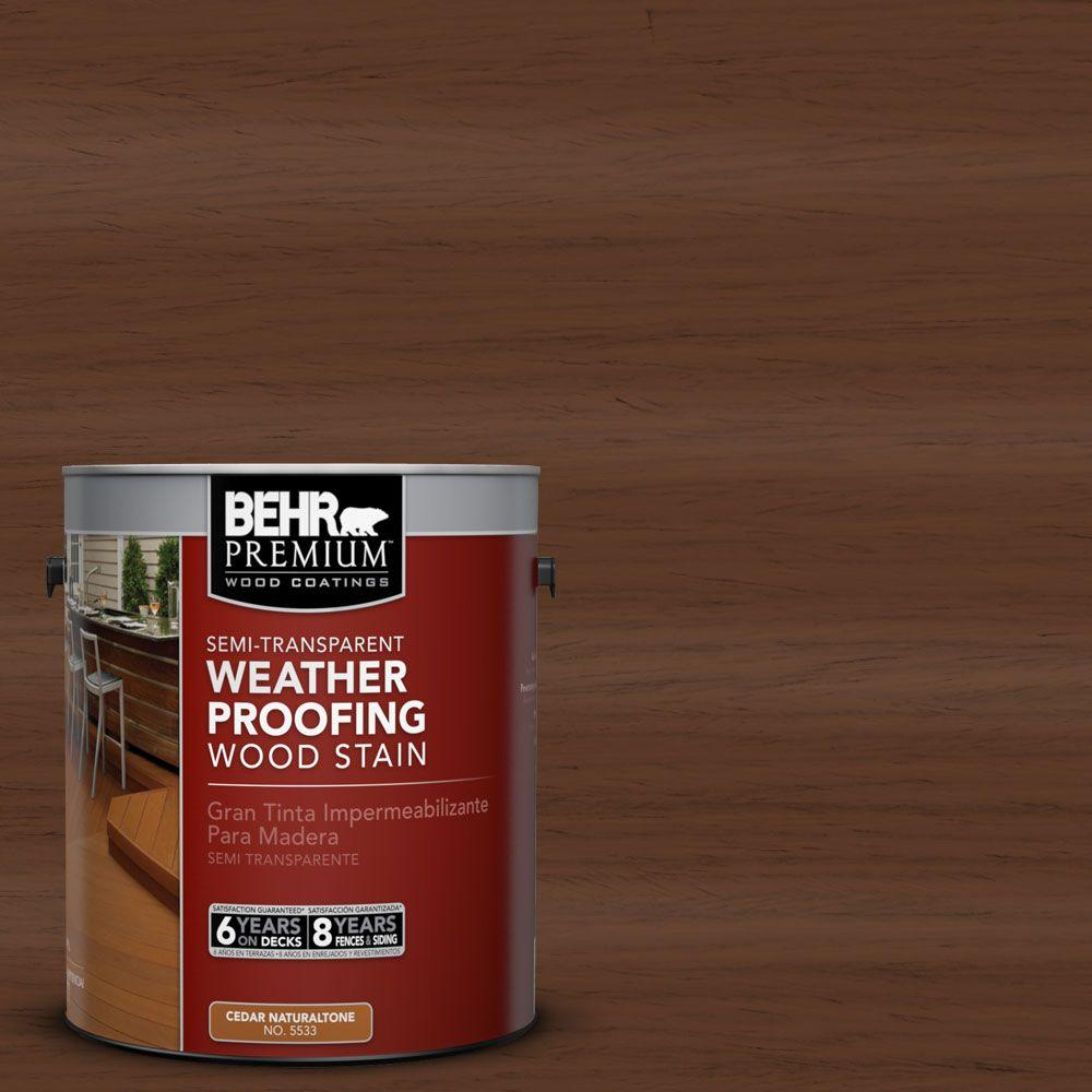 1-gal. #ST-135 Sable Semi-Transparent Weatherproofing Wood Stain