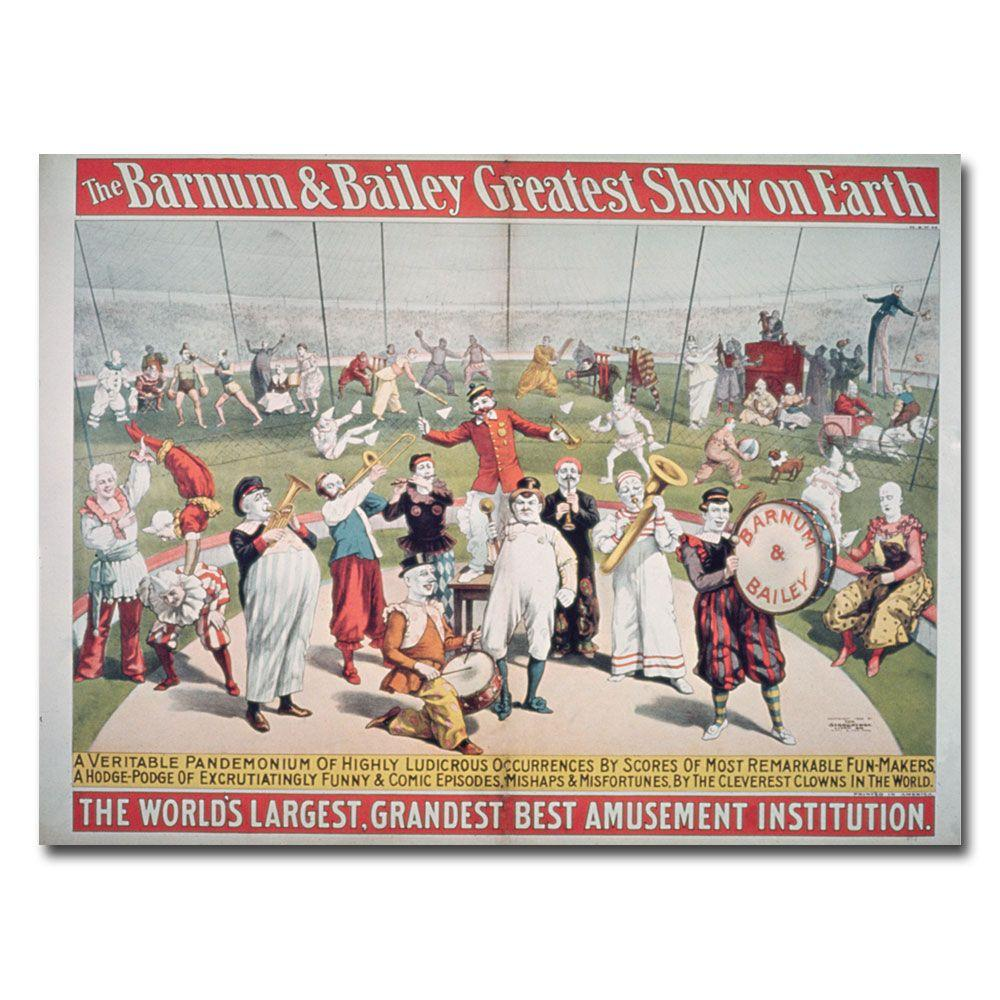 24 in. x 32 in. Barnum and Bailey Greatest Show on