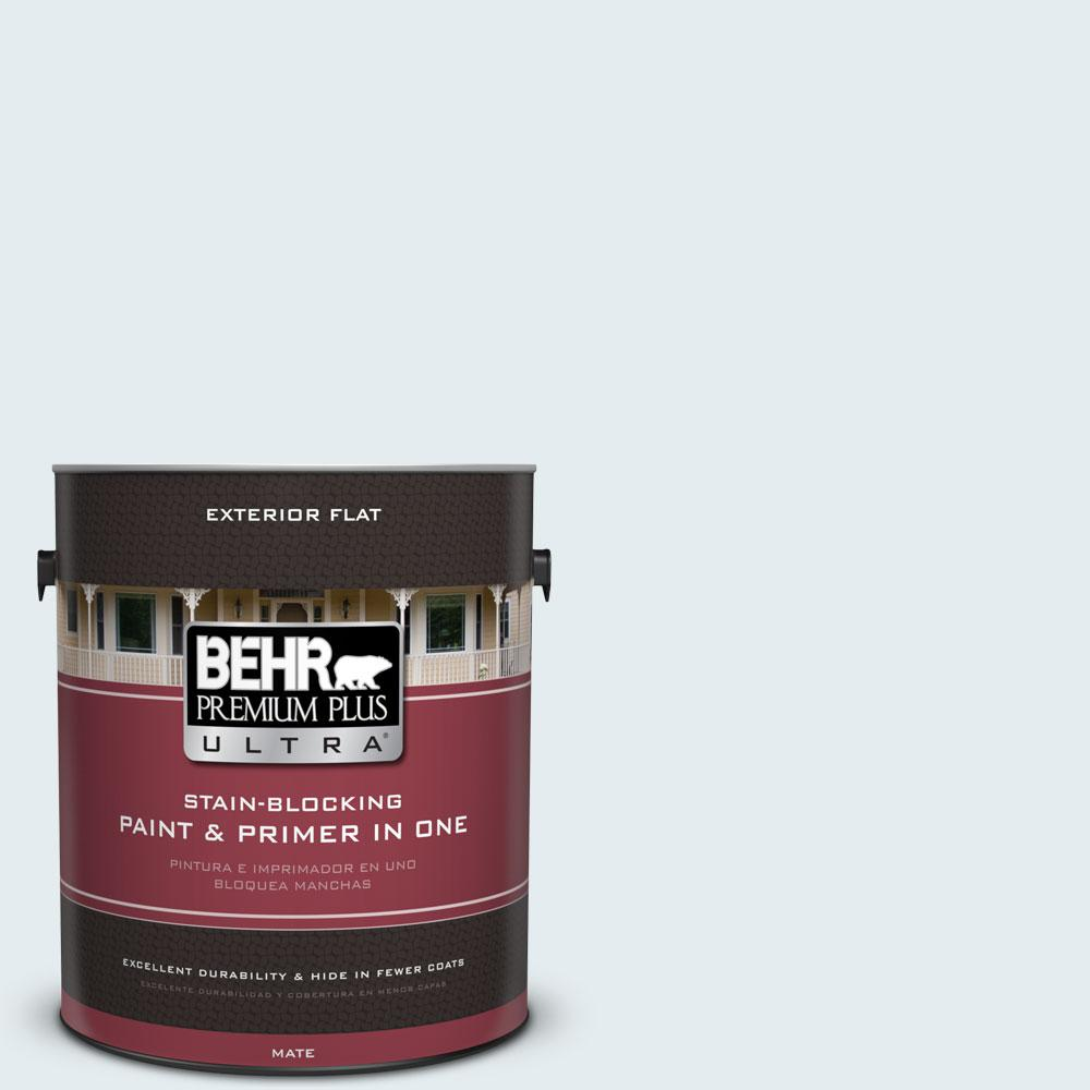 1 gal. #530E-1 White Sapphire Flat Exterior Paint