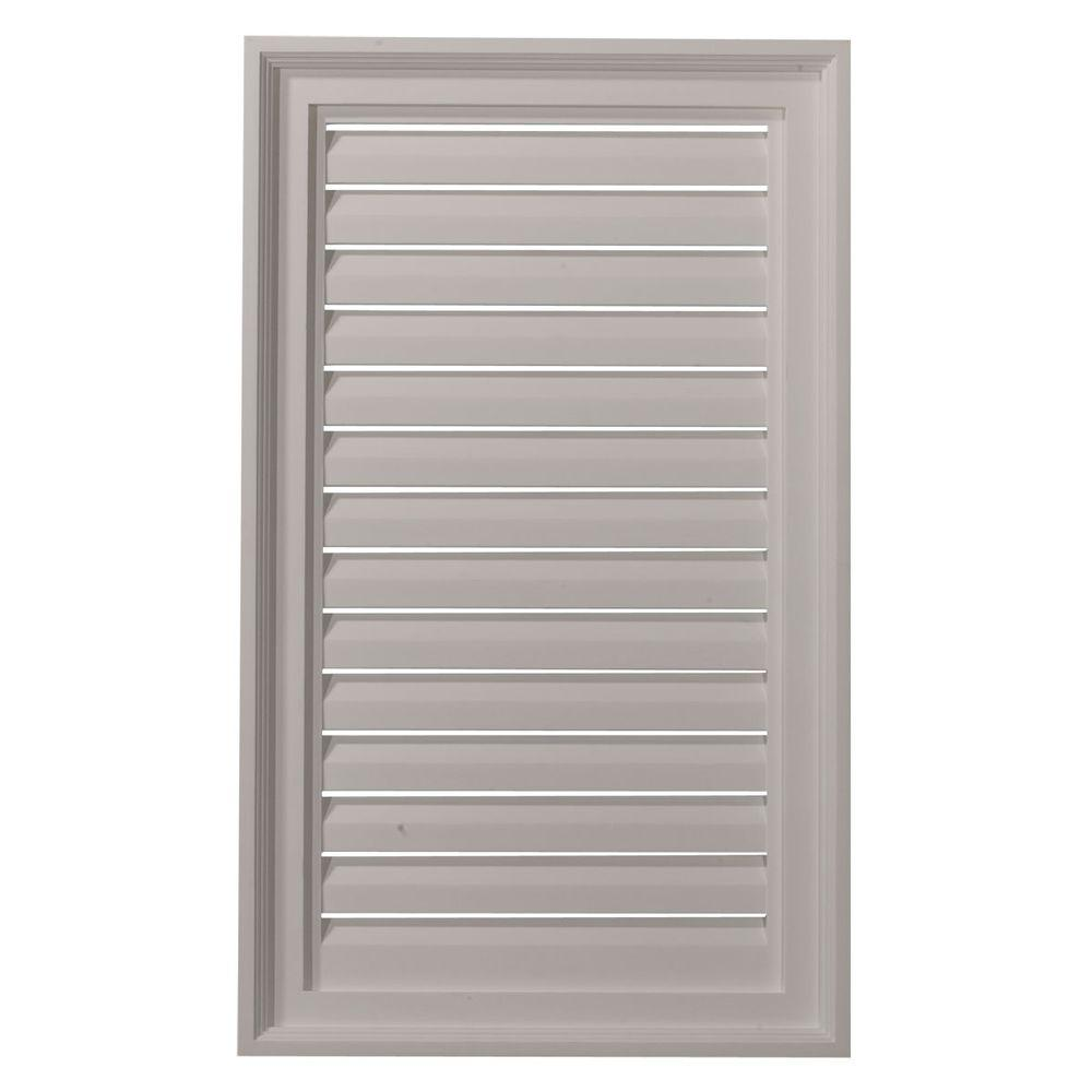 Ekena Millwork 2 in. x 18 in. x 30 in. Functional Vertical Gable Louver Vent