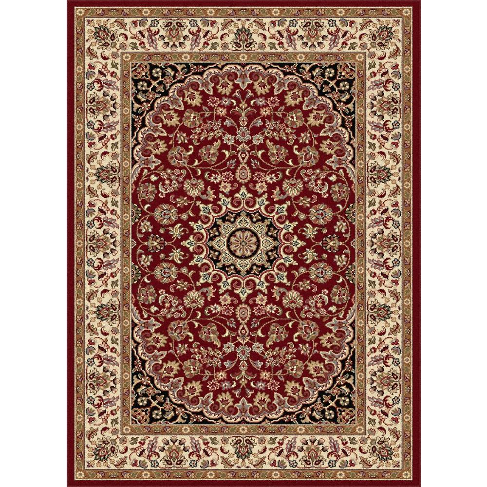 Tayse Rugs Elegance Red 5 ft. x 7 ft. Indoor Area
