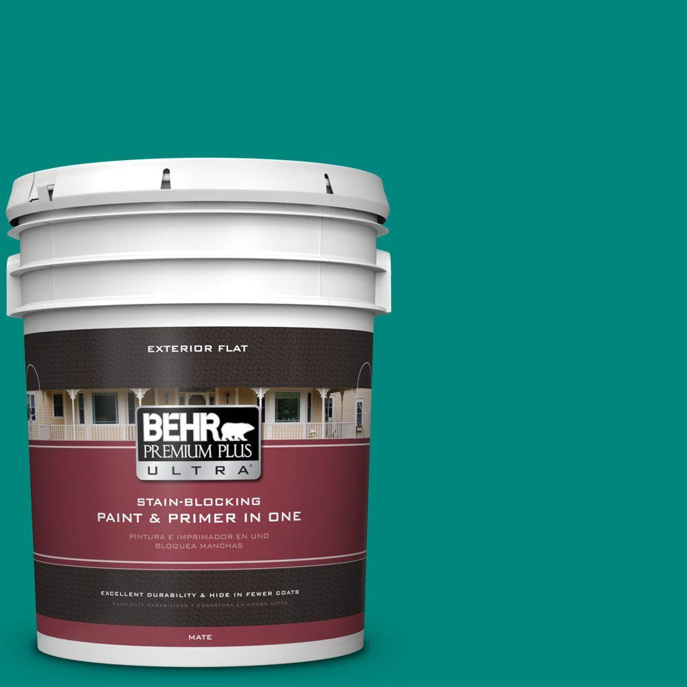 5-gal. #P450-7 Mystic Turquoise Flat Exterior Paint