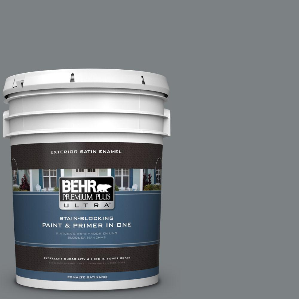 5 gal. #PPU26-03 Legendary Gray Satin Enamel Exterior Paint