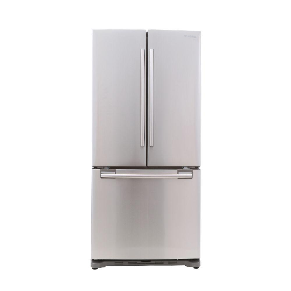 samsung 33 in w 17 5 cu ft french door refrigerator in stainless steel counter depth. Black Bedroom Furniture Sets. Home Design Ideas