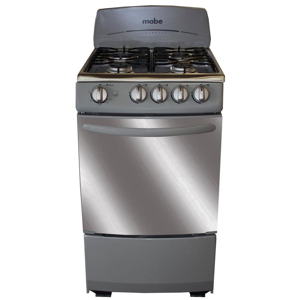 20 in. 2.4 cu. ft. Single Oven Gas Range in Graphite