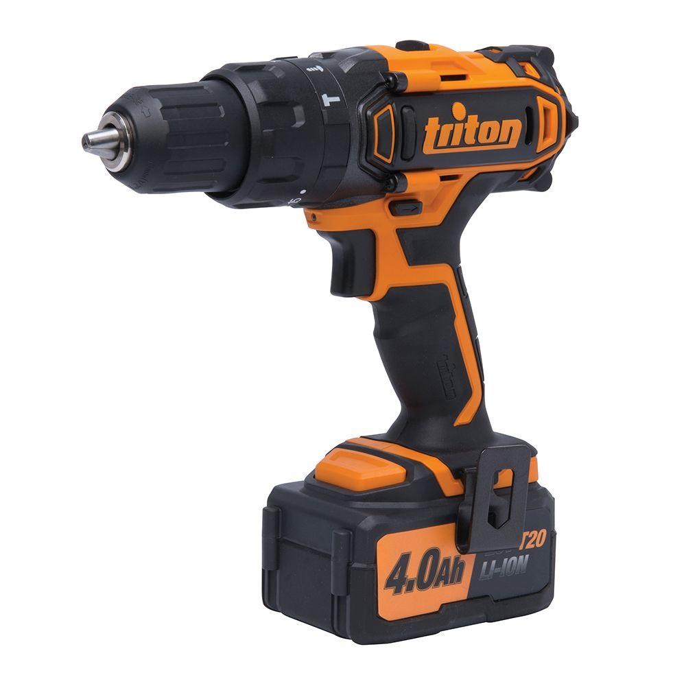 Triton 20-Volt Lithium-Ion 1/2 in. Cordless Compact Combo Hammer Drill-T20CH -