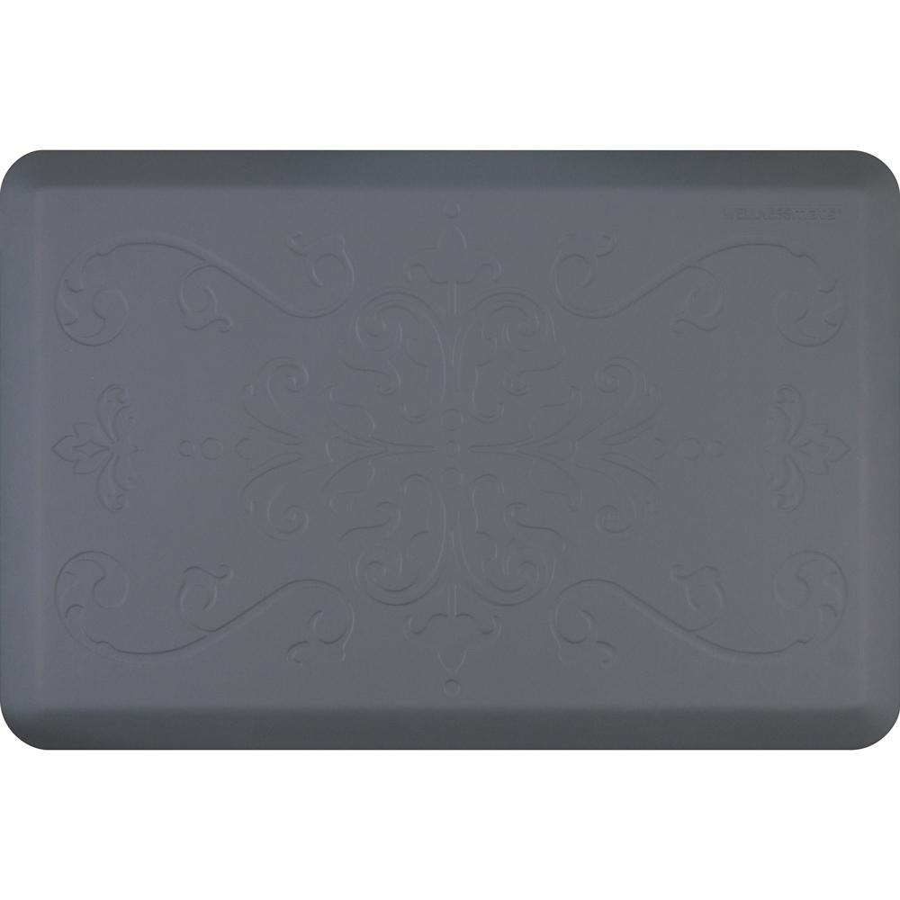 Entwine Gray 24 in. x 36 in. Advanced Polyurethane Anti-Fatigue Mat