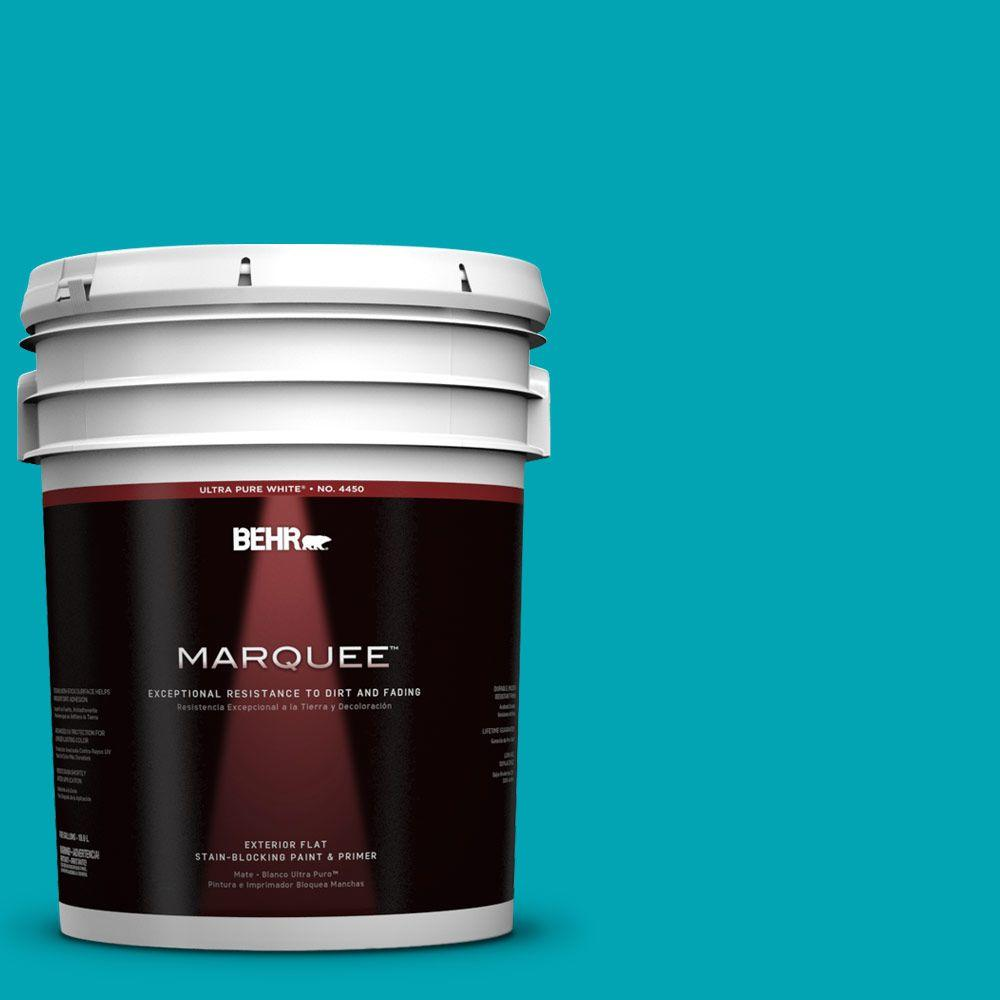 BEHR MARQUEE 5-gal. #510B-6 Blue Jewel Flat Exterior Paint