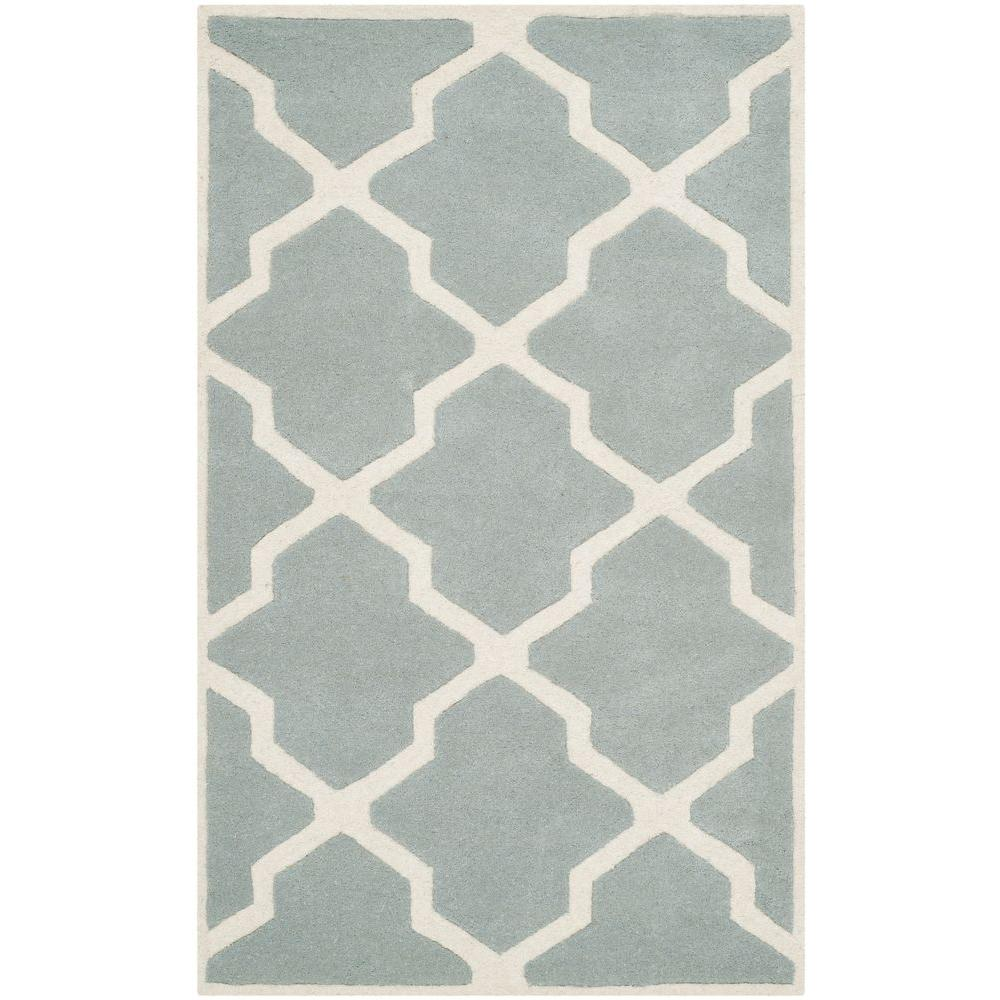 Chatham Grey/Ivory 3 ft. x 5 ft. Area Rug