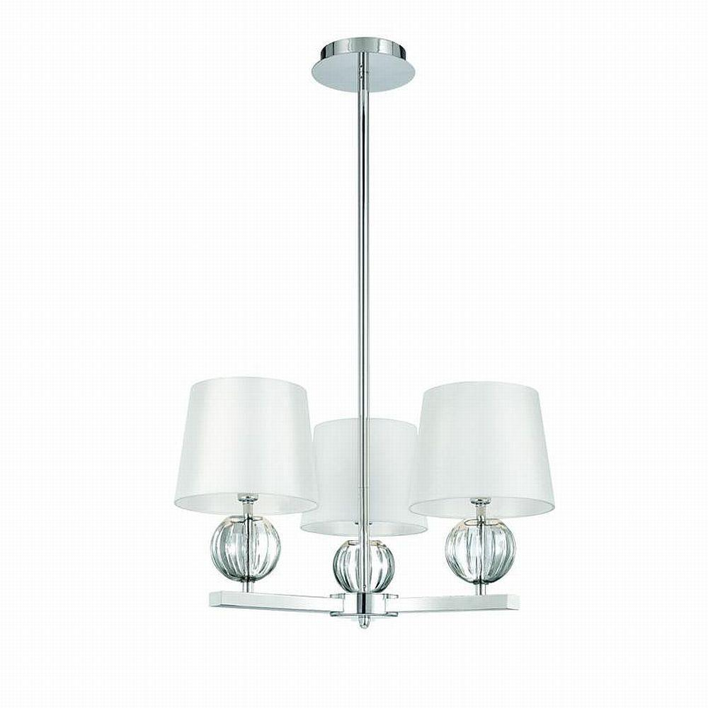 World Imports Speranza Collection 3-Light Chrome Ceiling Pendant