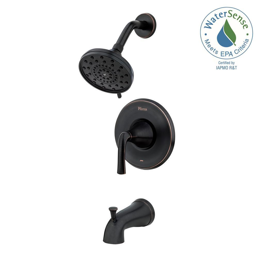 Ladera Single-Handle 3-Spray Tub and Shower Faucet in Tuscan Bronze