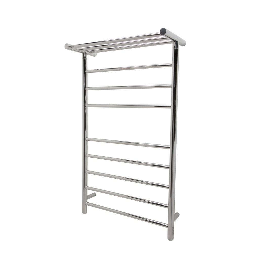 Decorative Towel Warmers : Anzzi eve bar stainless steel wall mounted electric