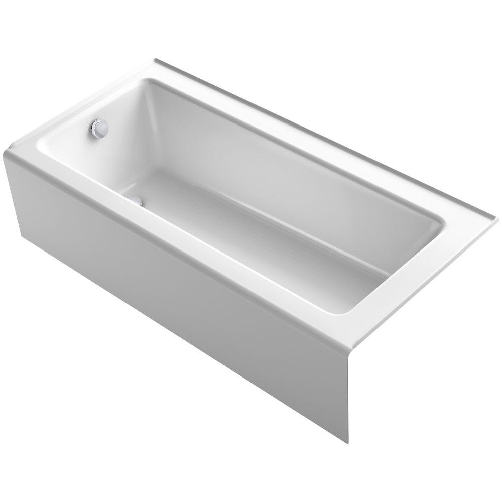 in left hand drain soaking tub in white 011 2379 00 the home depot