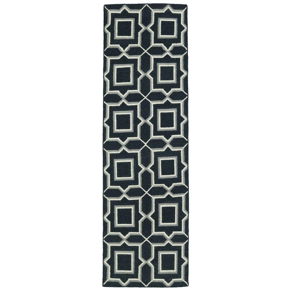 Glam Charcoal 2 ft. 6 in. x 8 ft. Runner