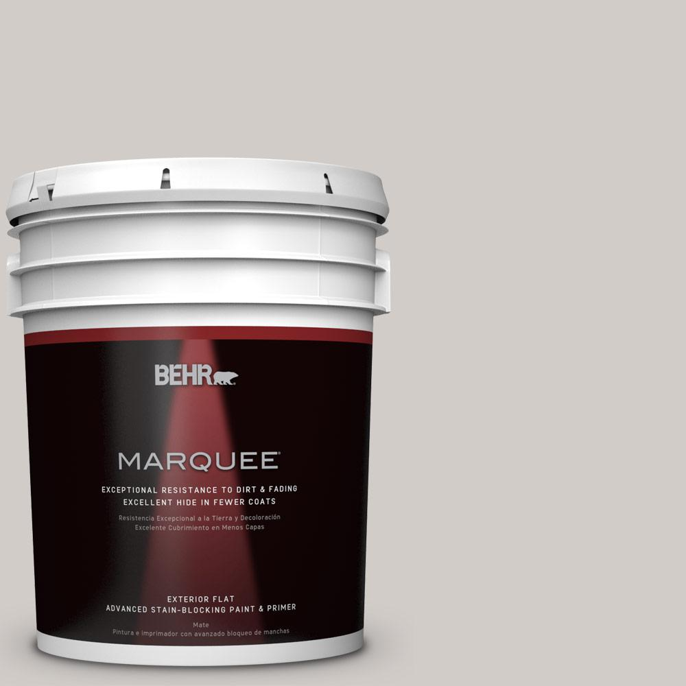 Home Decorators Collection 5-gal. #HDC-NT-20 Cotton Grey Flat Exterior Paint