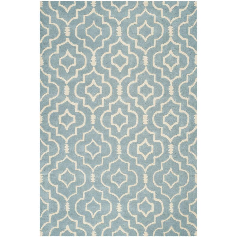 Safavieh Chatham Blue/Ivory 5 ft. x 8 ft. Area Rug-CHT736B-5 -