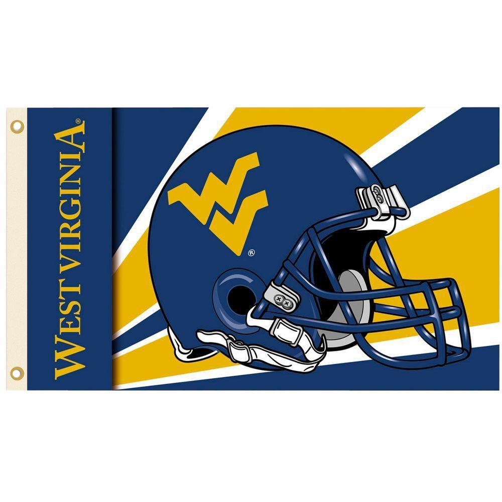 BSI Products NCAA 3 ft. x 5 ft. Helmet West Virginia