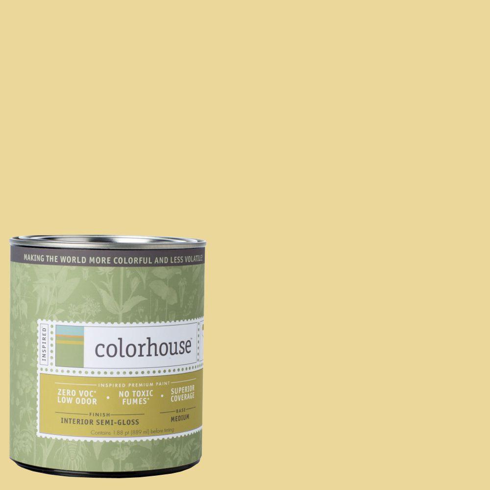 Colorhouse 1-qt. Beeswax .01 Semi-Gloss Interior Paint-693216 - The Home Depot