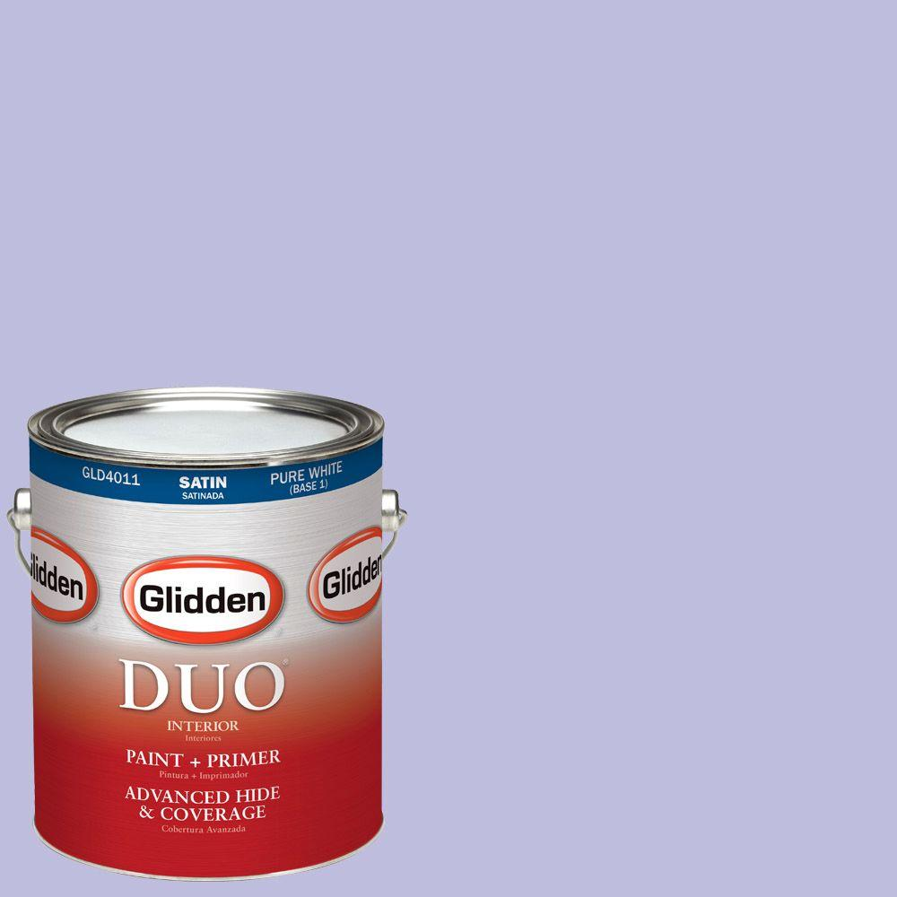 Glidden DUO 1-gal. #HDGV45 Lilac Bouquet Satin Latex Interior Paint with Primer