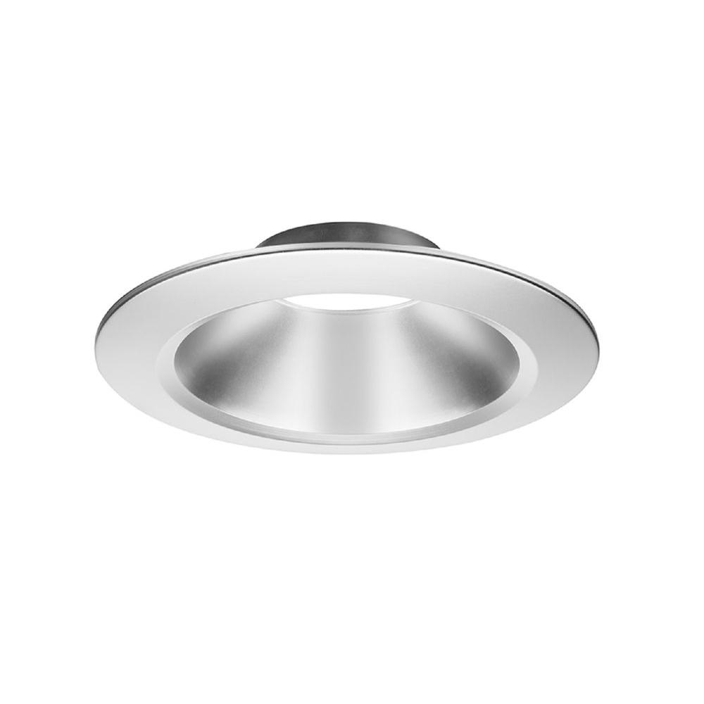6 in. Recessed Lighting Clear Diffuse Open Reflector Downlight Trim