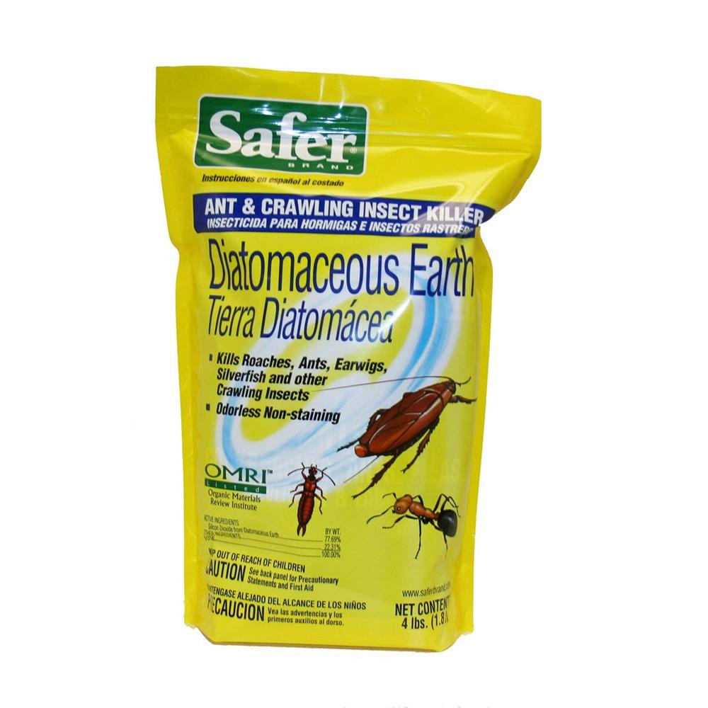 Safer Brand 4 lb. Diatomaceous Earth Ant and Crawling Insect Killer