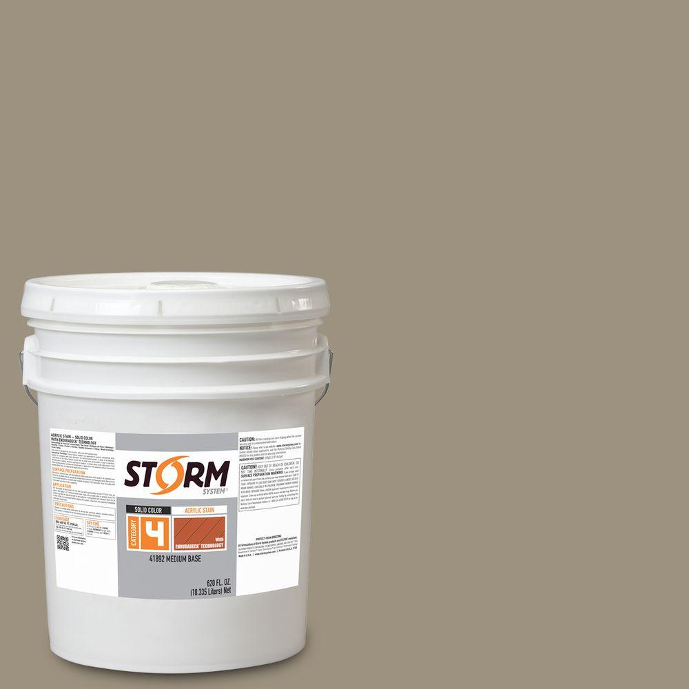 Storm System Category 4 5 gal. Wet Sand Exterior Wood Siding,