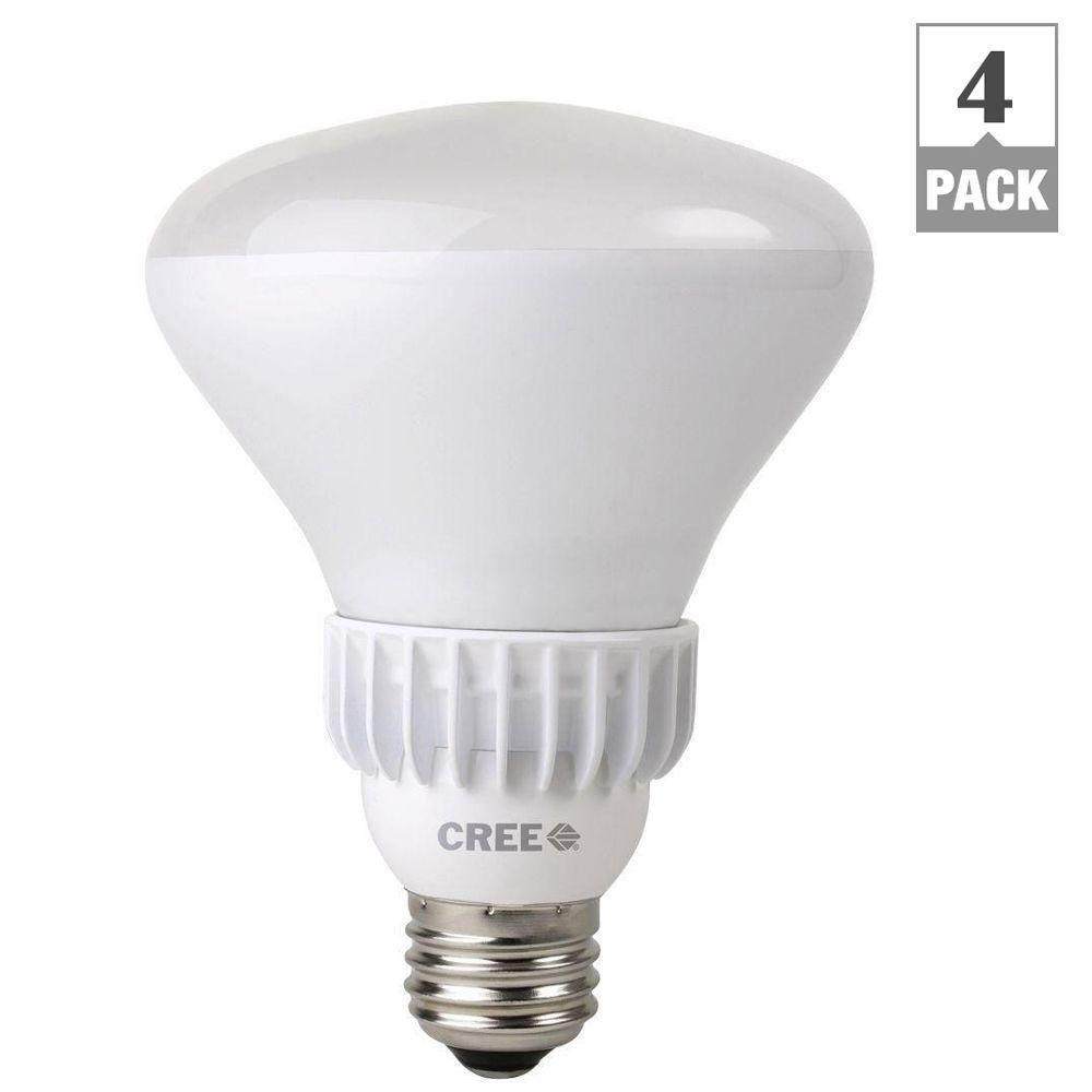 Cree 65W Equivalent Daylight (5,000K) BR30 Dimmable LED Floodlight Bulbs (4-Pack)