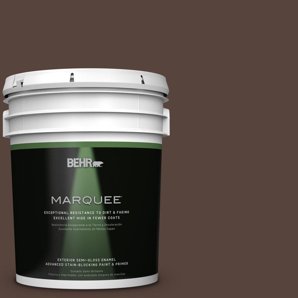 BEHR MARQUEE 5-gal. #BXC-78 Cordovan Leather Semi-Gloss Enamel Exterior Paint