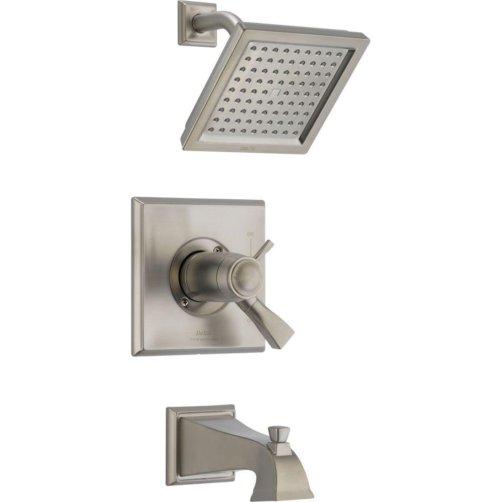 shower faucet trim kit only in stainless valve not included t17t451