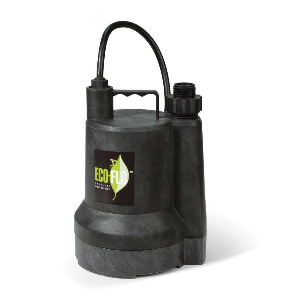 ECO FLO 1/4 HP Submersible Utility Pump-SUP55 - The Home Depot