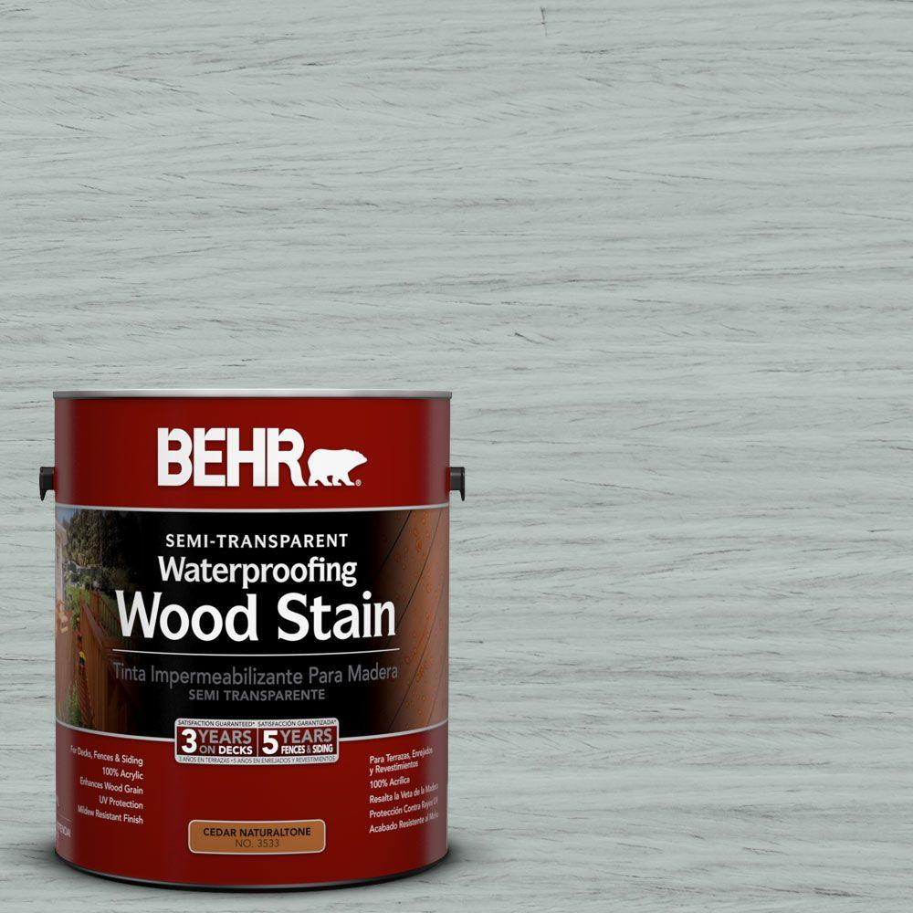 1-gal. #ST-365 Cape Cod Gray Semi-Transparent Waterproofing Wood Stain