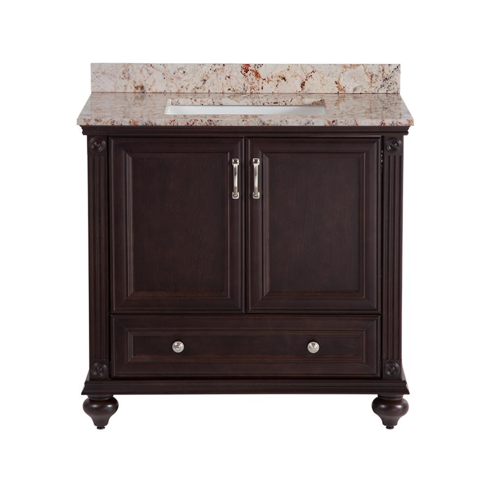 Annakin 36 in. W x 21.64 in. D Vanity in Chocolate
