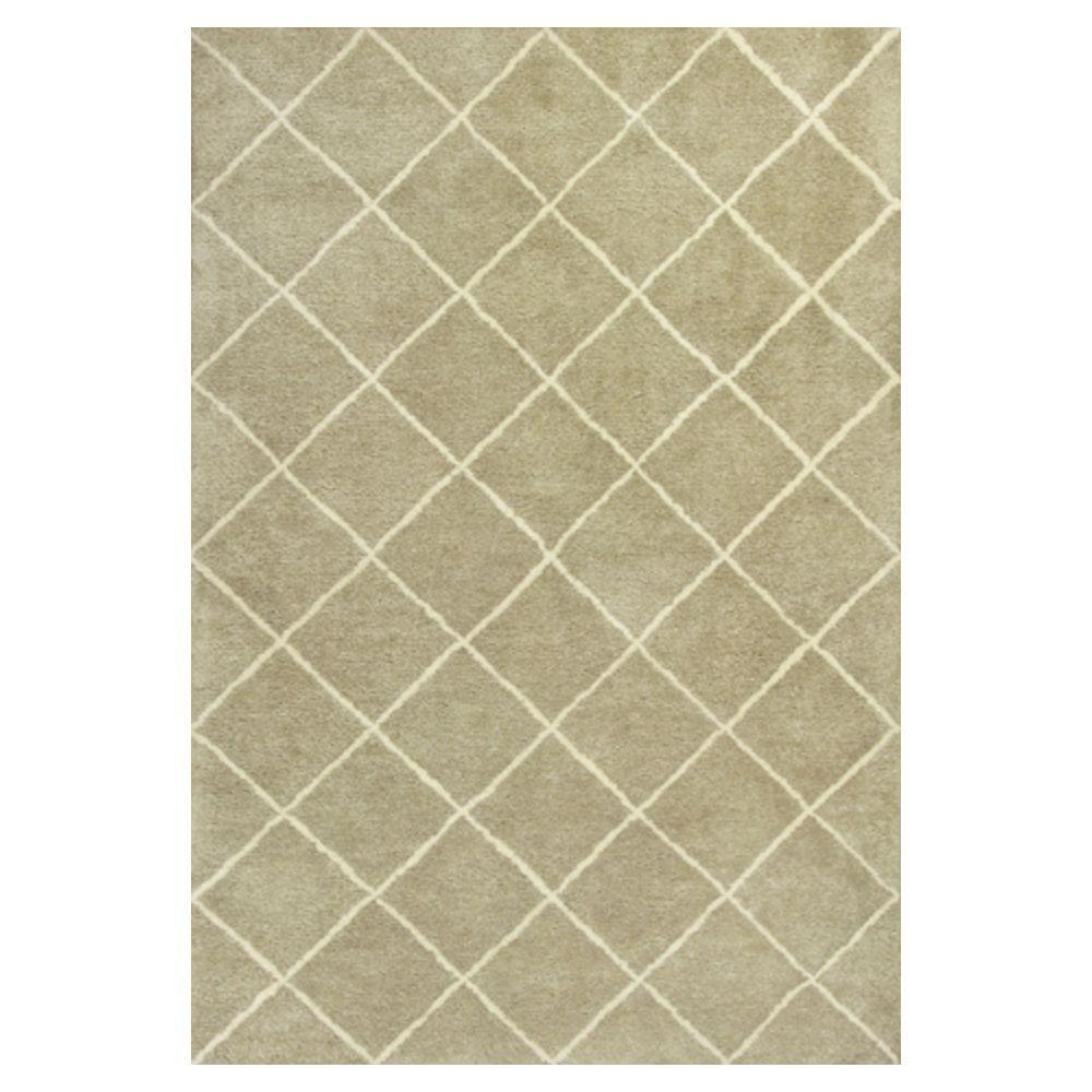 Kas Rugs Moroccan Chevron Sage/Ivory 7 ft. 9 in. x 9 ft. 9 in. Area Rug