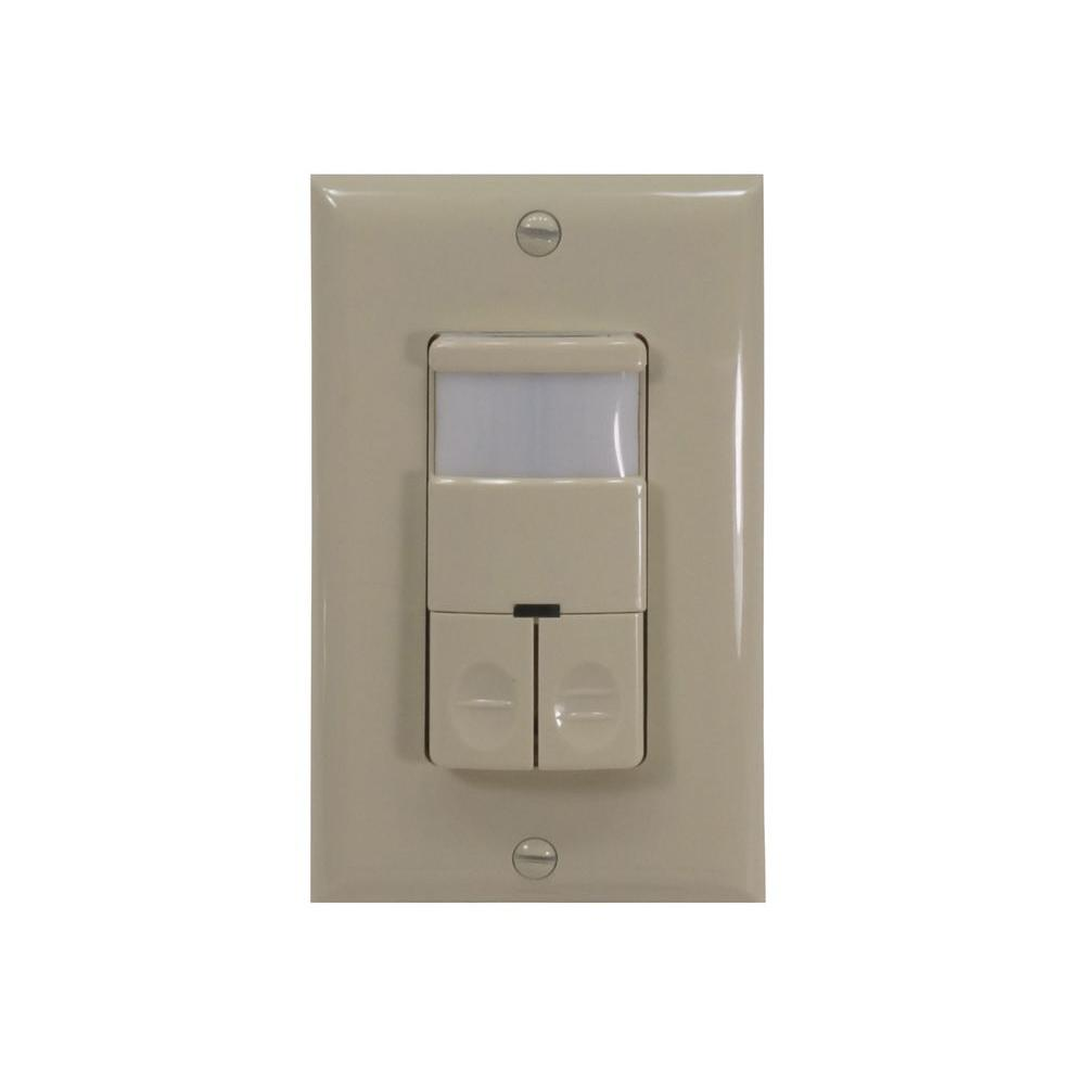 120 - 277 Volt Dual Relay Occupancy/Vacancy Passive Infrared Motion Sensor
