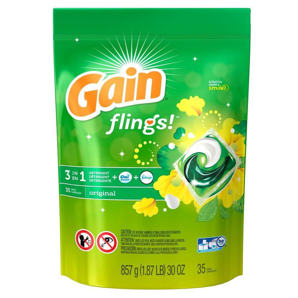 Gain Flings Original Scent Laundry Detergent (35-Count)-003700093138 - The Home
