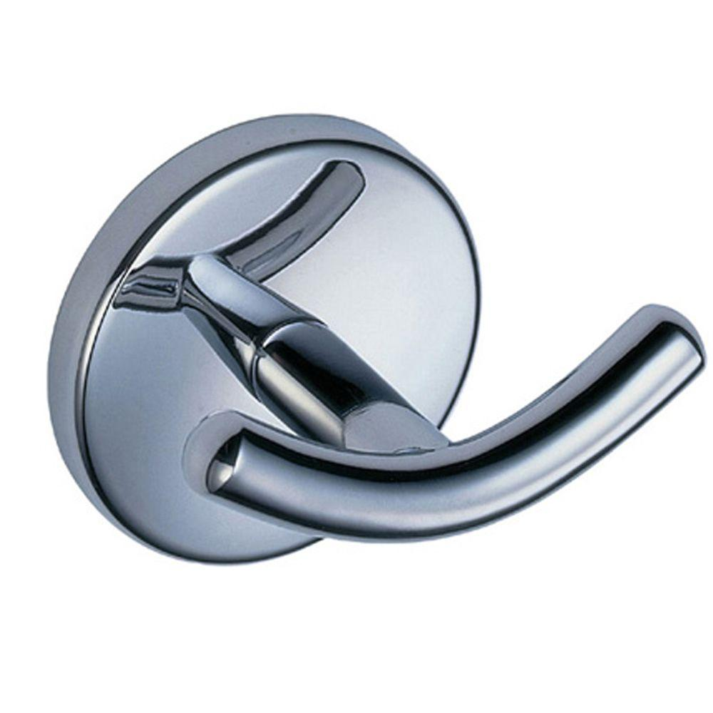 Glacier Bay Dorset Double Robe Hook in Chrome